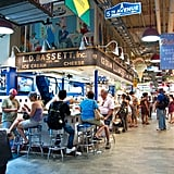 Chow down on around-the-world cuisine at America's oldest farmers market.