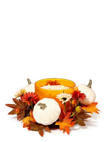 White Pumpkin 3-Wick Candle Ring
