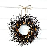 Candy Corn Mini Window Wreath