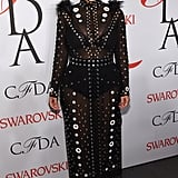 Kim Was a Standout in Sheer at the CFDA Awards