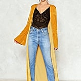 Nasty Gal nastygal Touch Up Velvet Duster Coat