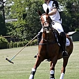 Harry returned to the field for Sentebale's charity polo match in May 2019.