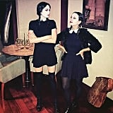 Jennifer Meyer and Erin Foster as Wednesday Addams