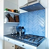 Blue Backsplash Color Tile