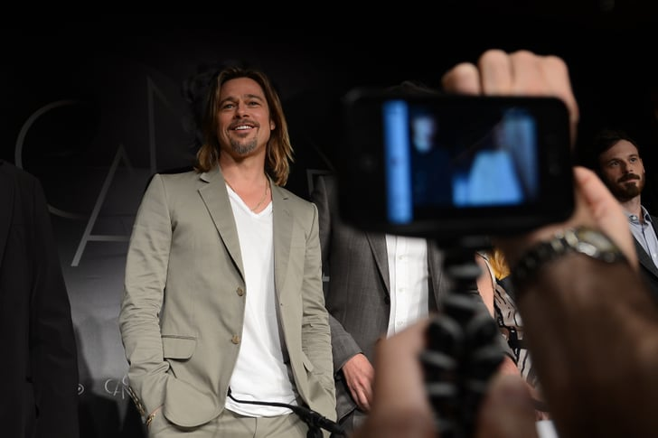 Brad Pitt spoke at a press conference in Cannes.