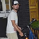 Leonardo DiCaprio hopped on his bike in NYC.
