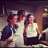 Lauren Bush and Karlie Kloss got ready to frost some cookies.