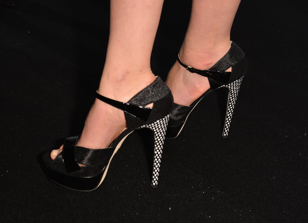Carey Mulligan wore Brian Atwood pumps.