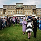 The garden party was held days before the big Jubilee weekend.