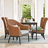 Camden Light Brown 7-Piece Wicker Outdoor Dining Set
