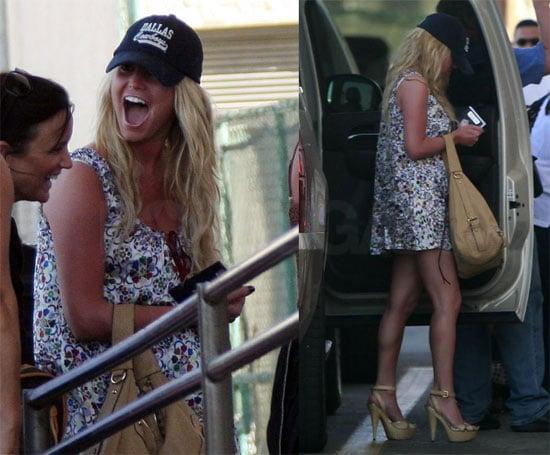 Jessica Simpson Leaves Cabo San Lucas Wearing a Dallas Cowboys Cap