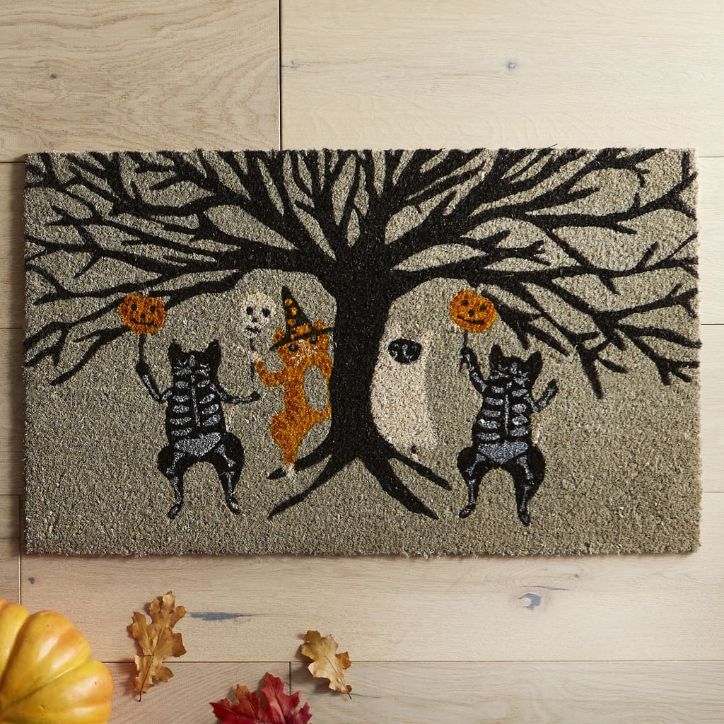 pier 1 imports halloween skeleton cats doormat ($12, originally $20