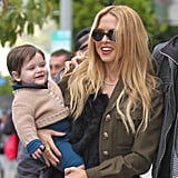 Rachel Zoe laughed with her son Skyler Berman.