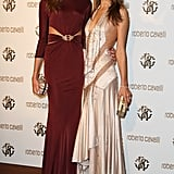 Ana Beatriz Barros and Alessandra Ambrosio, both in Roberto Cavalli