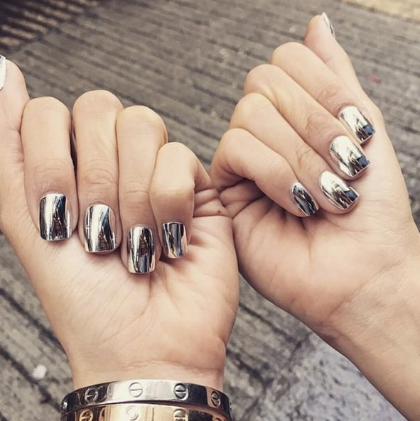 Mirror nail trend popsugar beauty mirrored manicures are the latest nail art craze you need to diy prinsesfo Choice Image