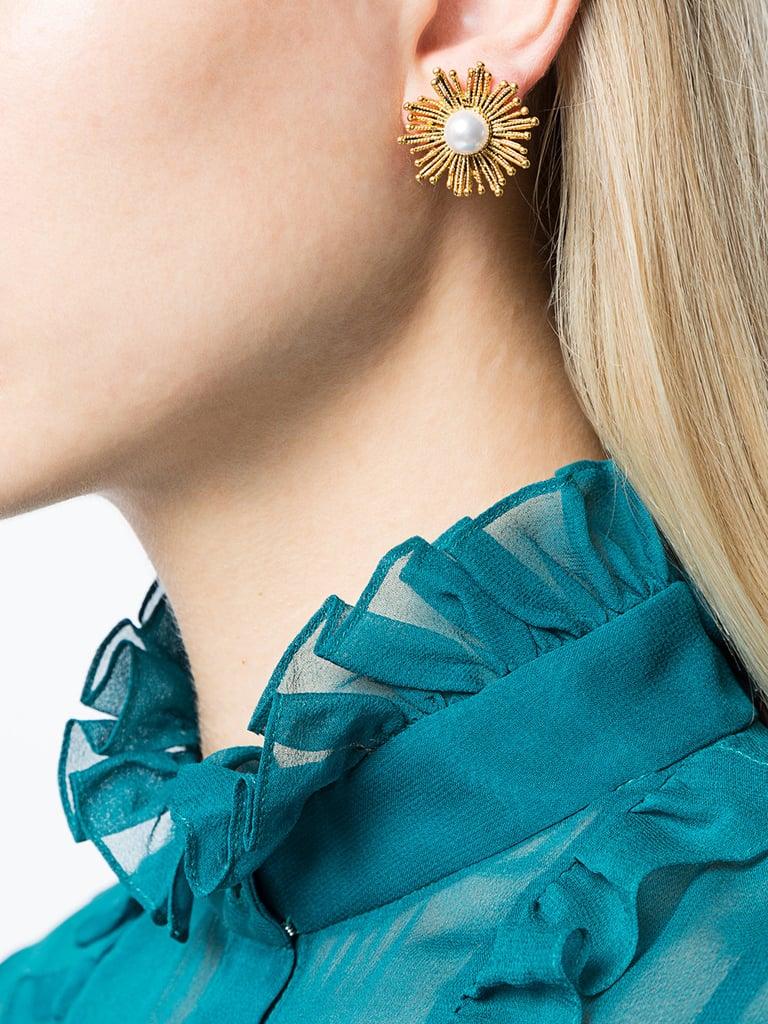 Our Pick: Oscar de la Renta Pearl Sun Earrings