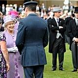 The queen met guests during her garden party ahead of her big Jubilee weekend.