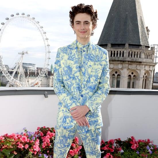 Timothée Chalamet Wears a Forest Print Stella McCartney Suit