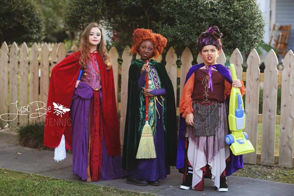 "Amok! Amok! Amok! Jennifer ""JB"" Buck, a photographer at Just Be PhotoJennic Photography, dance teacher, and creator of the nonprofit dance company B.C. Fields Dance Co., captured three 10-year-old girls dressed up as Winnie, Sarah, and Mary Sanderson from Hocus Pocus, and damn, they're giving the original famous actors a run for their money! The girls, all of whom are some of the youngest members of JB's dance company and have been her students for years, completely blew JB's expectations for the shoot out of the water, despite her having a good feeling that they'd be the perfect trio for a photo shoot just like this. ""In our last dance production in July, we were at a rehearsal and I saw them goofing off, being themselves, and I thought 'Oh my goodness, those three would be the perfect Sanderson sisters!' And the rest is history!"" JB told POPSUGAR, sharing that over the years she's photographed all three girls multiple times. ""Plus they are used to me telling them what to do, LOL. They are all best friends, which also made this super easy!"" After gathering the clothing and props needed for the shoot, including those amazing wigs and a hilarious toy vacuum, JB got the girls together and had them play around with their characters. ""I knew it would be pretty awesome, BUT I never expected it to be shared and liked by so many on social media! It makes us all so happy! They absolutely nailed it! Each of them embodied their characters perfectly and had so much fun, and that's what matters most!"" Scroll through to see all of the incredible photos JB took — and can we just talk about how spot-on all of Mary's facial expressions are?!      Related:                                                                                                           These 3 Dogs Dressed as the Hocus Pocus Witches Win Halloween For the Rest of Time"
