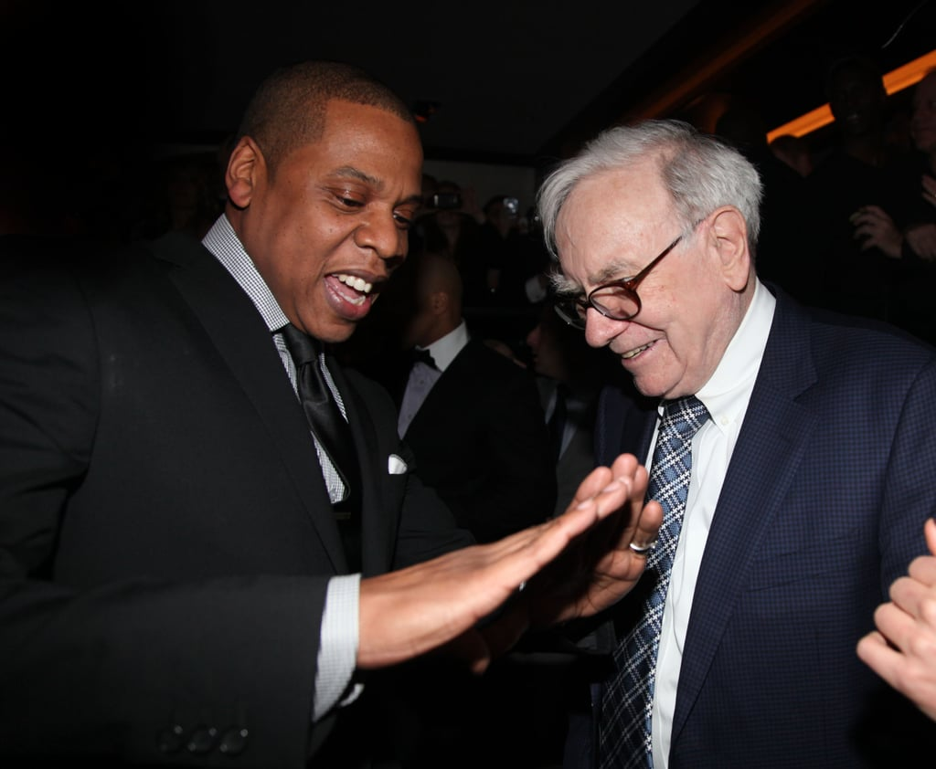 Jay-Z showed Warren Buffett some dance moves in NYC.
