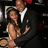 Will Smith and Jada Pinkett Smith cuddled on the red carpet.
