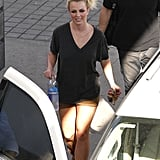Britney Spears smiled as she got into her car.