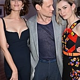 Matt Smith and Lily James with Gemma Arterton at the Cannes Film Festival