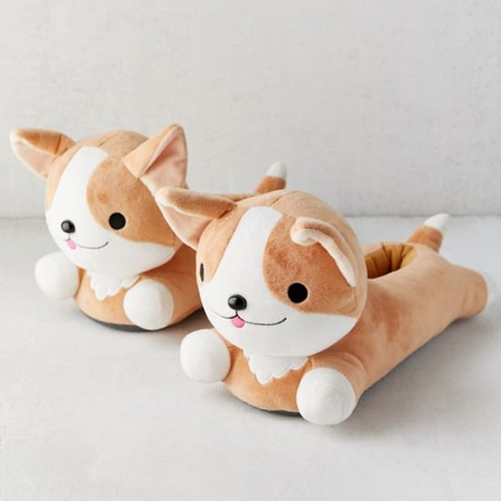 Heat-Up Corgi Slippers