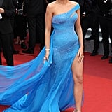 Blake Lively Let Her Leg Peek Out of Her Blue Cannes Gown