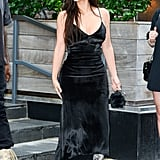 Kim's Velvet Street Style Moment