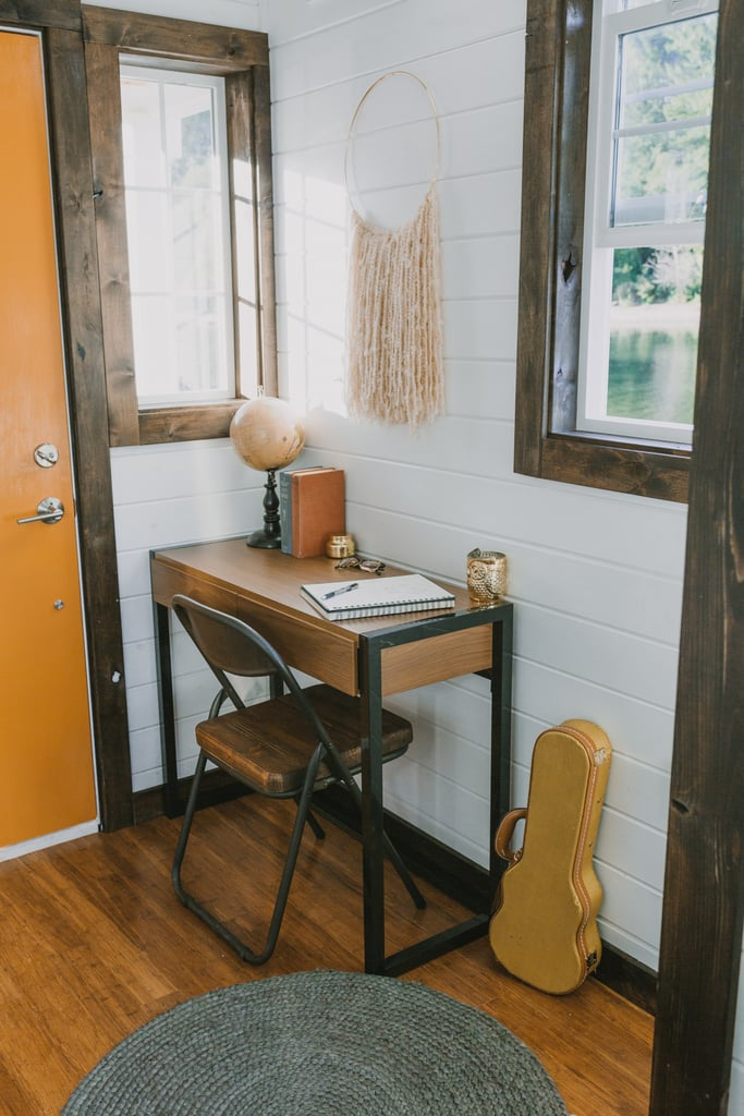 How cute is this mini-office setup?