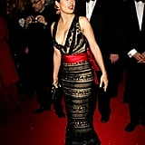 In 2005, Salma Hayek's pick was black lace for the Cannes Film Festival closing gala.
