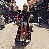 Cutoffs aren't just cutoffs when you add a flowy, bohemian kimono. Source: Instaram user peaceloveshea