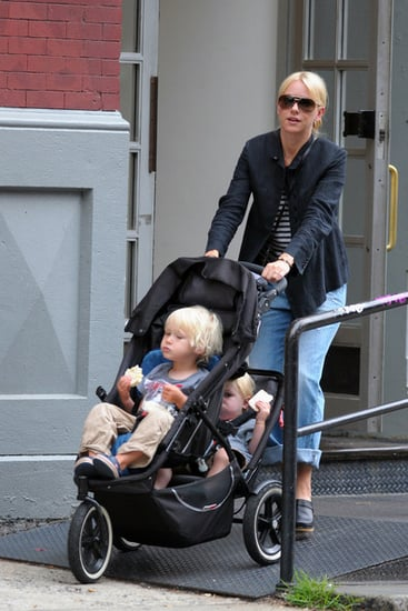 Naomi Watts out and about with her sons in New York City