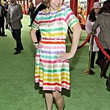 Kristen Schaal's dress was inspired by the playful puppets.
