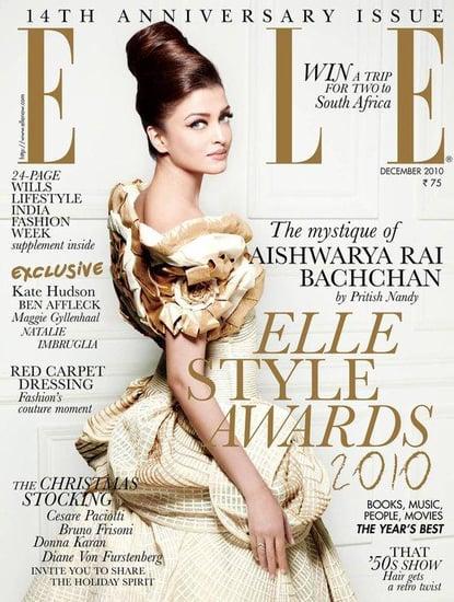 Aishwarya Rai covers Elle India-december 2010