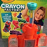 Recycle old crayon bits while teaching your child the science of melting and molding with the Crayola Crayon Factory. Mix in new color options and watch them transform into customized creations! The newly molded car, heart, or puppy crayons give new life to your old art supplies and make coloring more fun.