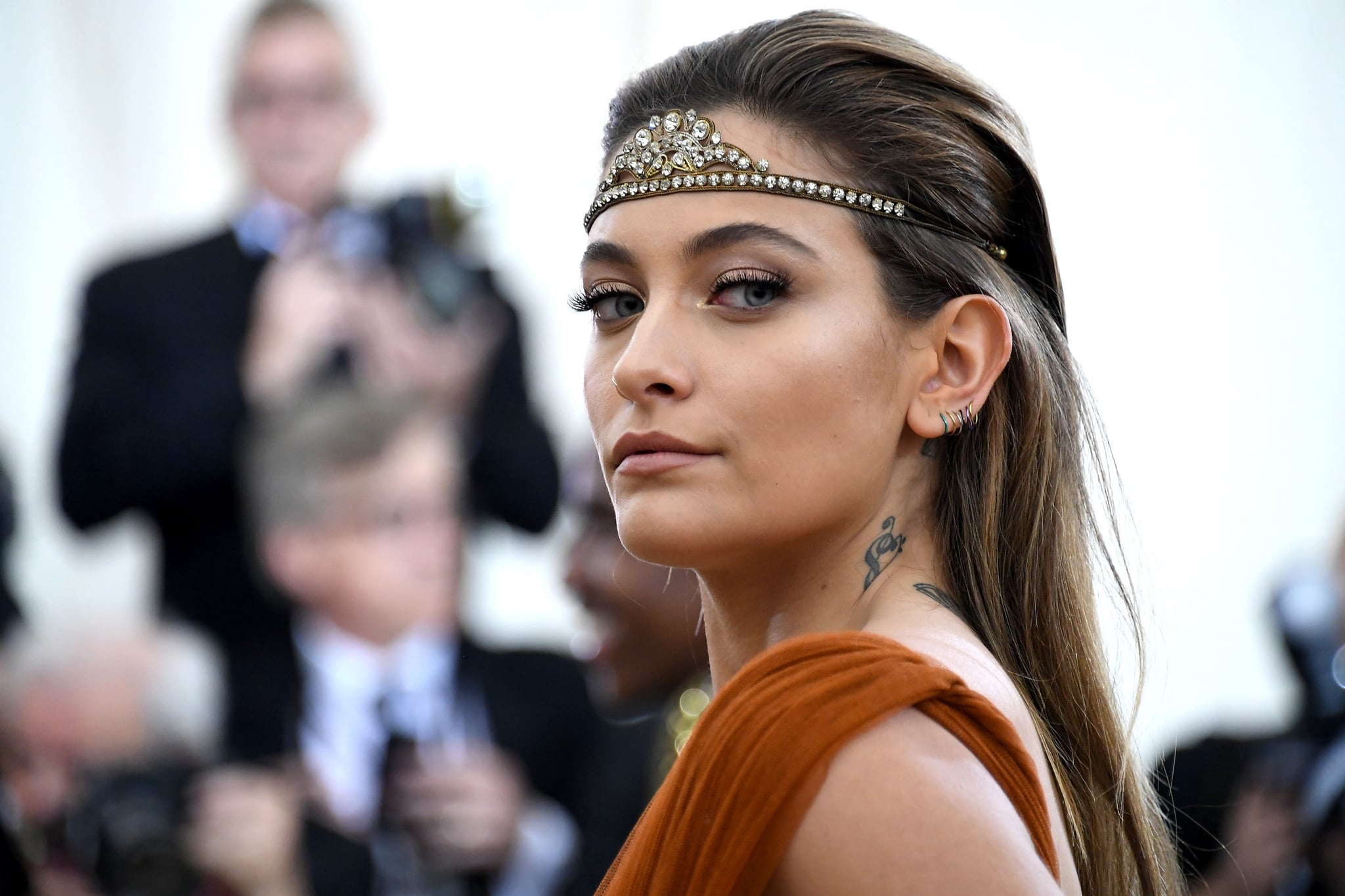 NEW YORK, NY - MAY 07:  Actor Paris Jackson attends the Heavenly Bodies: Fashion & The Catholic Imagination Costume Institute Gala at The Metropolitan Museum of Art on May 7, 2018 in New York City.  (Photo by Noam Galai/Getty Images for New York Magazine)