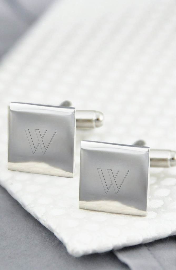 Cathy's Concepts Monogram Square Cuff Links ($30)