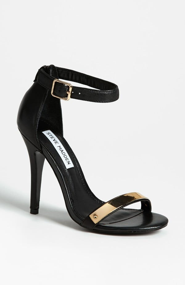 An upgrade on your basic black pump, this pair of Steve Madden Realov-M sandals ($100) is a sexier silhouette — and comes with just a flash of metallic to finish it off with added flair.