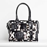 Seductive Pony Satchel in Grey/Cream/Black Leopard Photo courtesy of Tamara Mellon