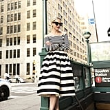 Mismatched Striped Top and Skirt