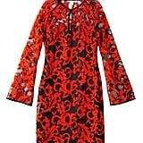 Diane von Furstenberg Black and Red Lace Dress