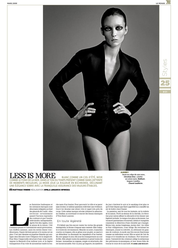 Le Monde Launches T Magazine-Inspired M with Audrey Marnay