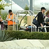 Emily Blunt, John Krasinski, and Jennifer Aniston all headed to the airport to leave Cabo.