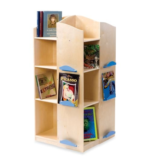 Four sided book tower book storage for kids for small spaces popsugar moms photo 8 - Filing solutions for small spaces photos ...