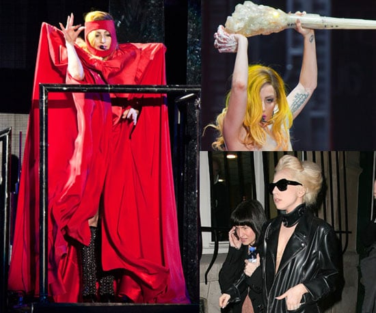 Lady Gaga's Stage and Street Outfits in Paris, December 2010