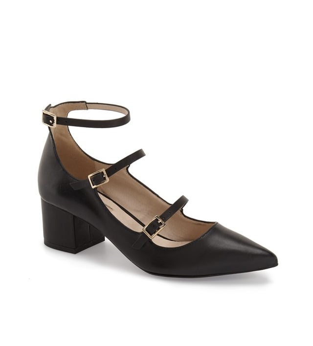 I'm all in for any shoe trend that comes along with a little help in the height department. When I first laid eyes on the Topshop Jolene Pump ($80-$85), I had to have them. The caged details are a pretty cool feature, and the body is the perfect blend between a flat and a high heel. — JC