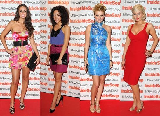 Inside Soap Awards, Hollyoaks, Gemma Merna, Carly Stenson, Jennifer Metcalfe, Leah Hackett, Best Dressed