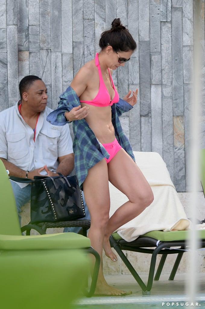 Katie Holmes flaunted her bikini body in Florida.